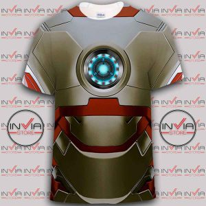 Iron Man Steel Body tshirt full printing