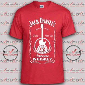 Jack daniels Music tshirt red