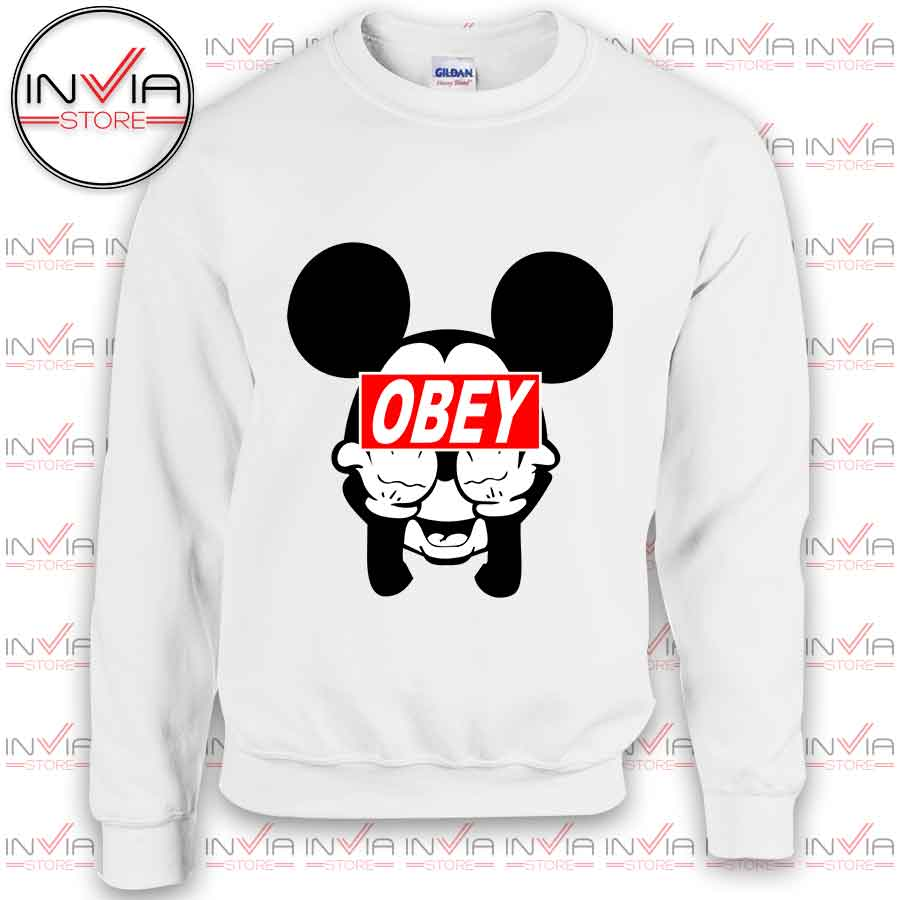Mickey Mouse Obey Funny Sweatshirt