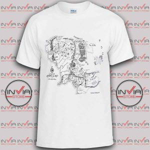 Middle Earth Map tshirt