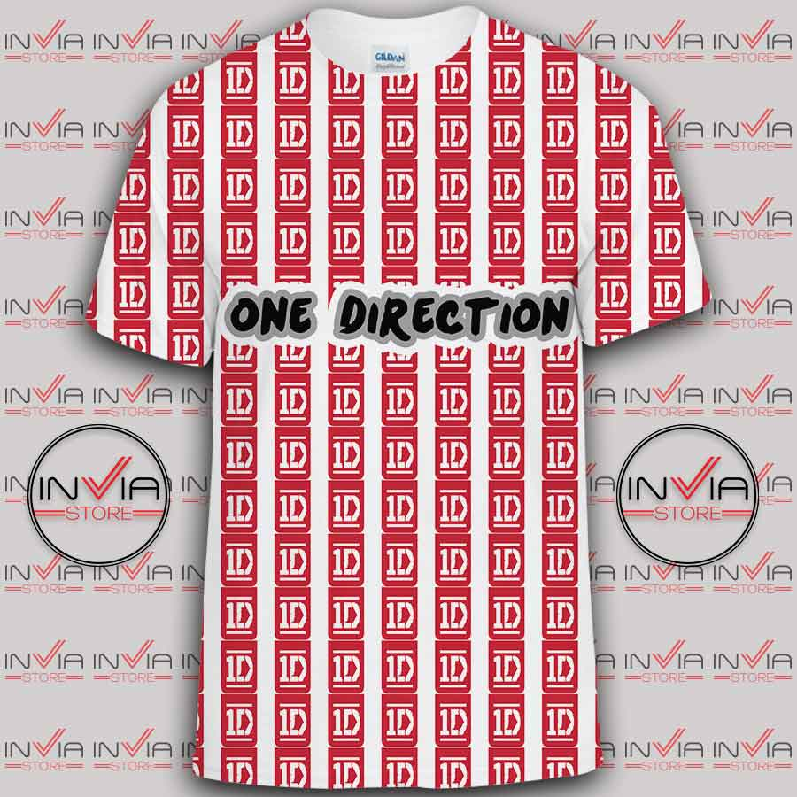 Buy One Direction Logo Art Tshirt Full Printing 18f66c15de14