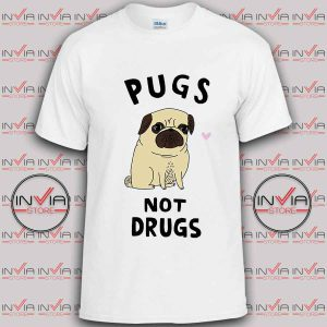Pugs Not Drugs Funny Tshirt