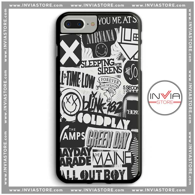 buy popular 35ea4 08a0e Coolest Phone Cases Rock and Roll Bands Iphone Case