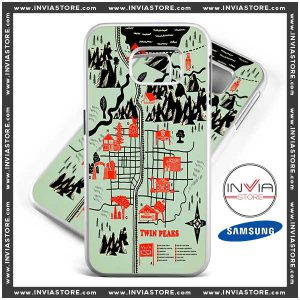 Coolest Phone Cases Twin Peaks Map Samsung Galaxy Cases