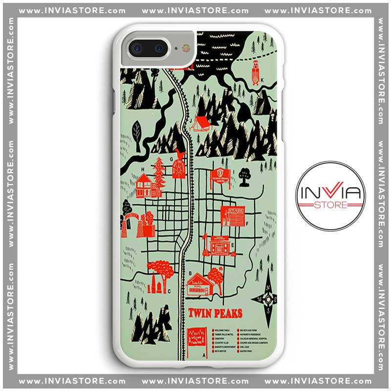 Coolest Phone Cases Welcome to Twin Peaks Map Iphone Case