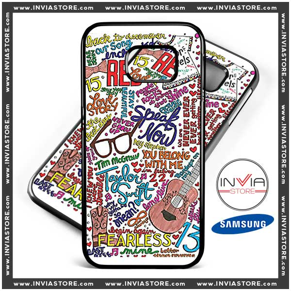 Phone Cases Taylor Swift Collage Red Album Samsung Galaxy Cases