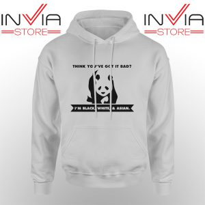 Best Hoodie Im Black White Cute Panda Adult Unisex Grey