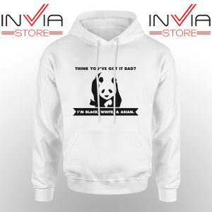 Best Hoodie Im Black White Cute Panda Adult Unisex White