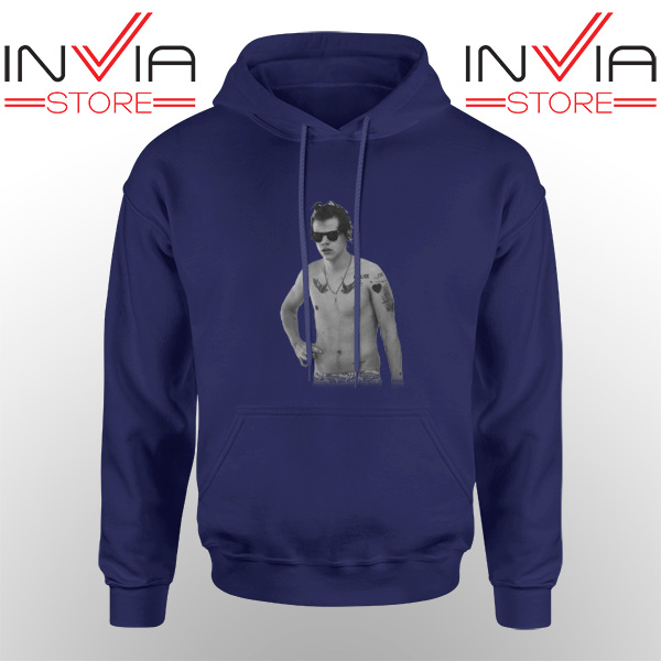 Best Hoodie One Direction Harry Style Tattoo Adult Unisex Navy