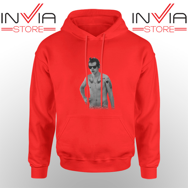Best Hoodie One Direction Harry Style Tattoo Adult Unisex Red