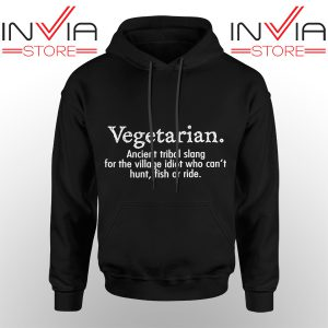 Best Hoodie Vegetarian Cant Hunt Fish Funny Hoodies Adult Unisex Black