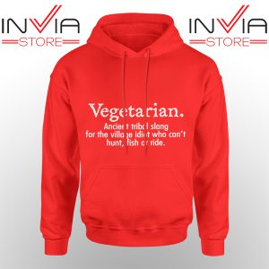 Best Hoodie Vegetarian Cant Hunt Fish Funny Hoodies Adult Unisex Red