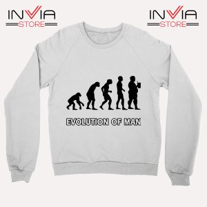Best Sweatshirt Evolution Man Beer Custom Sweater Size S-3XL
