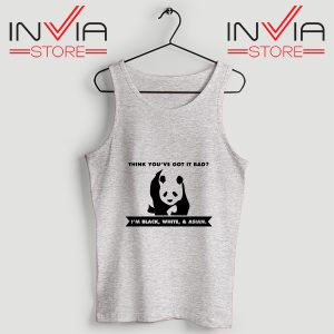 Best Tank Im Black White Cute Panda Custom Size S-3XL Grey