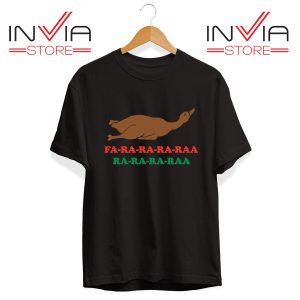 Best Tshirt Fa Ra Ra Ra Raa Duck Dinner Tee Shirt Ugly Christmas Black