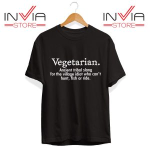Best Tshirt Vegetarian Cant Hunt Fish Funny Tee Shirt Size S-3XL Black