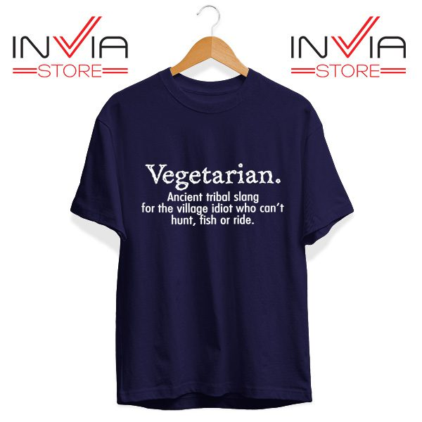Best Tshirt Vegetarian Cant Hunt Fish Funny Tee Shirt Size S-3XL Navy