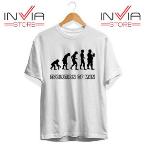 Best Tshirt evolution Man Beer Custom Tee Shirt Size S-3XL