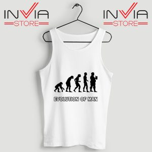 Buy Evolution Man Beer Custom Tank Tops Size S-3XL White