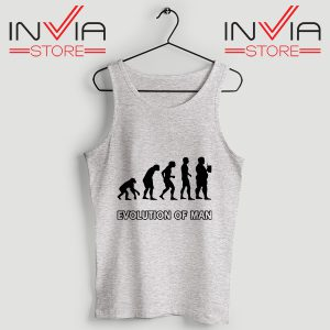 Buy Evolution Man Beer Custom Tank Tops Size S-3XL Grey