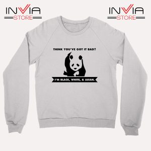 Buy Sweatshirt Im Black White Cute Panda Sweater Size S-3XL White