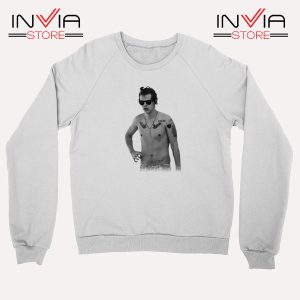 Buy Sweatshirt One Direction Harry Style Tattoo Size S-3XL White