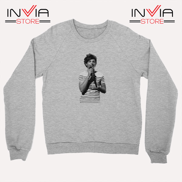 Buy Sweatshirt One Direction Louis Tomlinson Size S-3XL Grey