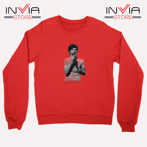 Buy Sweatshirt One Direction Louis Tomlinson Size S-3XL Red