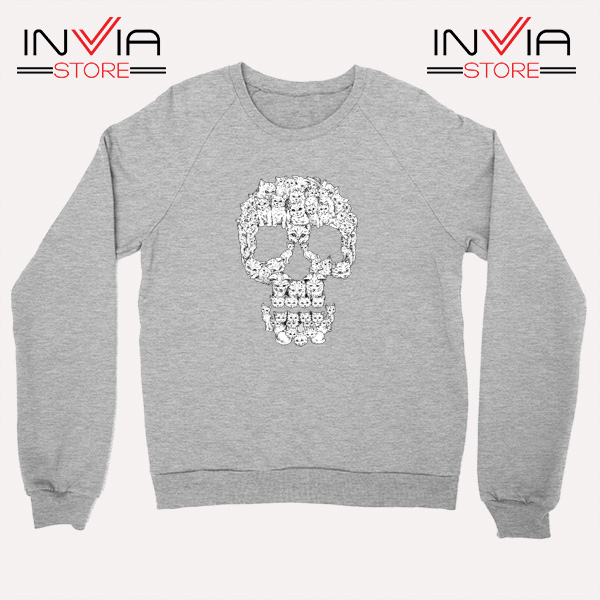 Buy Sweatshirt Skulls Are For Pussies Sweater Size S-3XL Grey