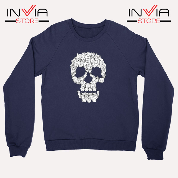 Buy Sweatshirt Skulls Are For Pussies Sweater Size S-3XL Navy
