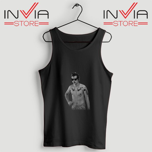 Buy Tank One Direction Harry Style Tattoo Size S-3XL Black