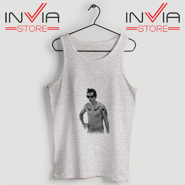 Buy Tank One Direction Harry Style Tattoo Size S-3XL Grey