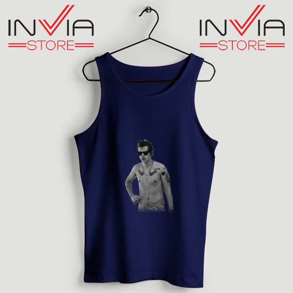 Buy Tank One Direction Harry Style Tattoo Size S-3XL Navy