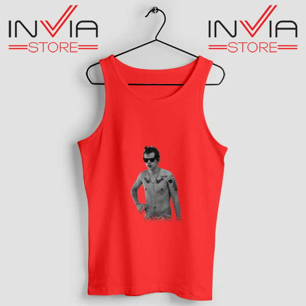 Buy Tank One Direction Harry Style Tattoo Size S-3XL Red