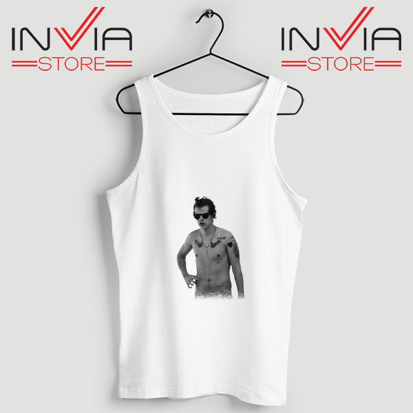 Buy Tank One Direction Harry Style Tattoo Size S-3XL White