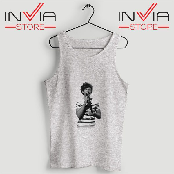 Buy Tank One Direction Louis Tomlinson Size S-3XL Grey