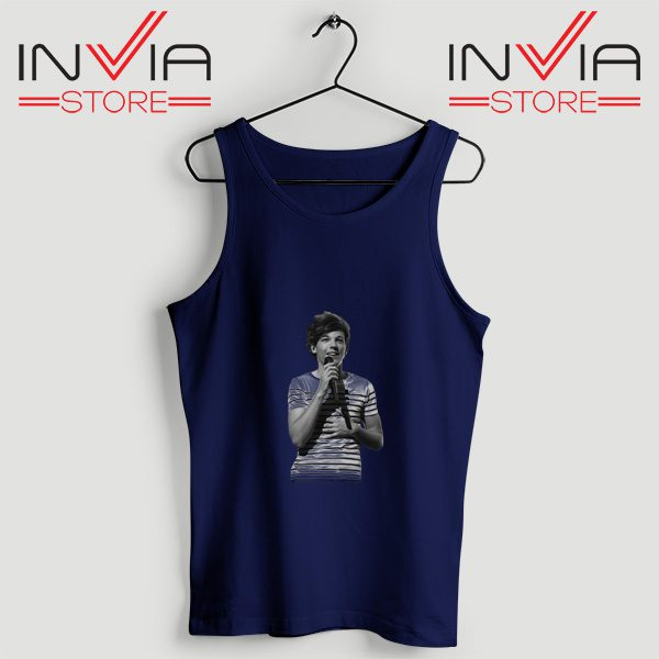 Buy Tank One Direction Louis Tomlinson Size S-3XL Navy