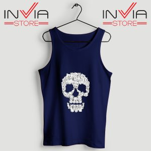 Buy Tank Skulls Are For Pussies Custom Size S-3XL Navy