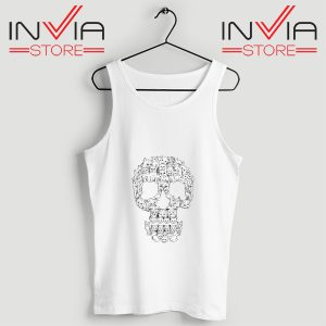 Buy Tank Skulls Are For Pussies Custom Size S-3XL White