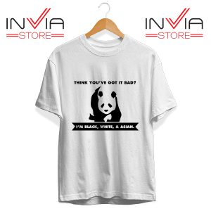 Buy Tshirt Im Black White & Asian Cute Panda Size S-3XL White