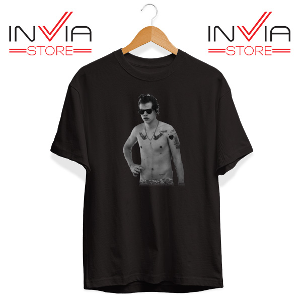 Buy Tshirt One Direction Harry Style Tattoo Size S-3XL Black