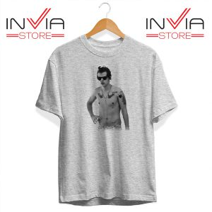 Buy Tshirt One Direction Harry Style Tattoo Size S-3XL Grey