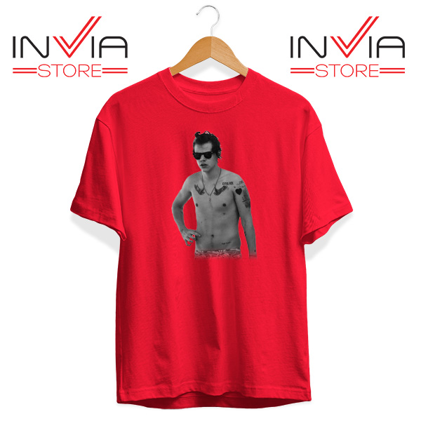 Buy Tshirt One Direction Harry Style Tattoo Size S-3XL Red