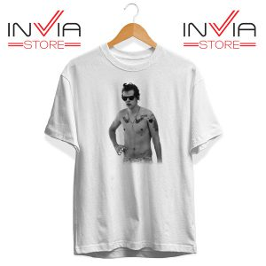 Buy Tshirt One Direction Harry Style Tattoo Size S-3XL White