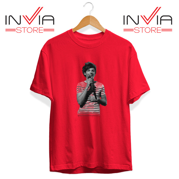 Buy Tshirt One Direction Louis Tomlinson Size S-3XL Red