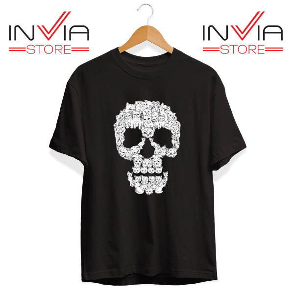 Buy Tshirt Skulls Are For Pussies Tee Shirt Size S-3XL Black