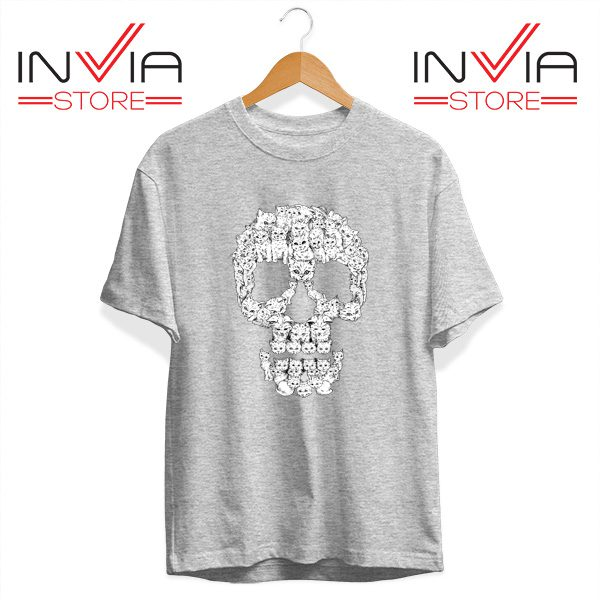 Buy Tshirt Skulls Are For Pussies Tee Shirt Size S-3XL Grey
