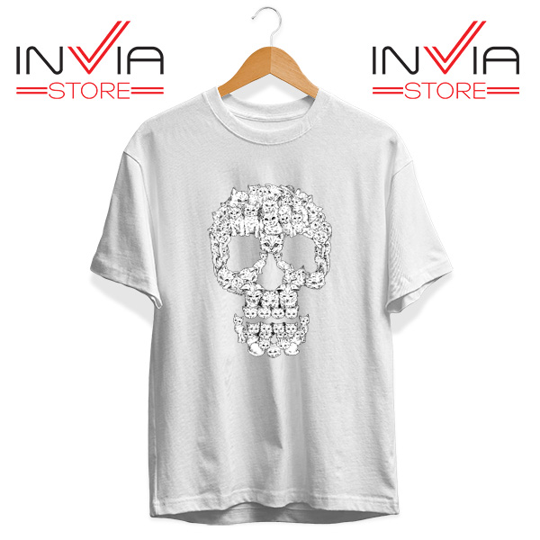 Buy Tshirt Skulls Are For Pussies Tee Shirt Size S-3XL White