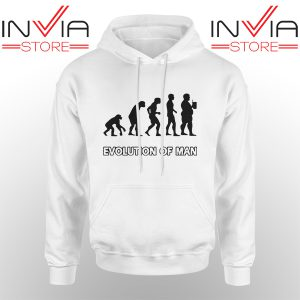 Custom Hoodie Evolution Man Beer Human Evolution Adult Unisex