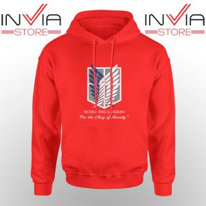 Best Hoodie Attack On Titan Scouting Legion Adult Unisex Red